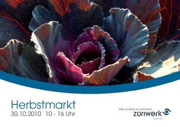 Herbstmarkt - Züriwerk
