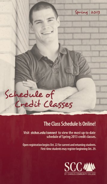 credit class schedule - St. Charles Community College