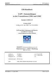 Statusmeldungen zu den Transaktionen GM01 und GM02 ...