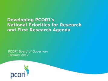 Program Development Committee Report - Patient Centered ...