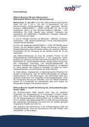 Pressemitteilung Offshore-Branche trifft sich in ... - wab.biz