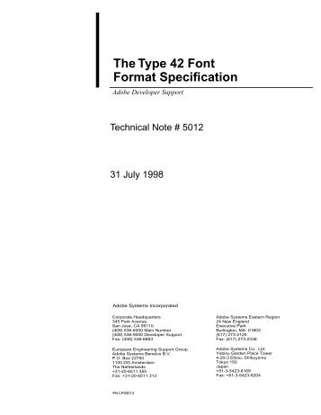 Type 42 Font Format Specification - Adobe