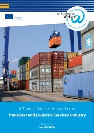 ICT and e-Business Impact in the Transport and Logistics Services ...