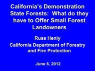California's Demonstration State Forests - Sonoma Land Trust