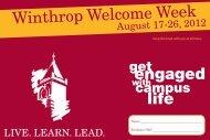 Winthrop Welcome Week - Winthrop University