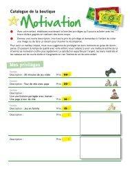 catalogue de la boutique Motivation - CREVALE