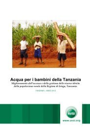 Acqua per i bambini della Tanzania - Avsi