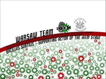 Warsaw Presentation - iGEM 2012