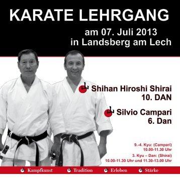 Karate Lehrgang mit Shihan Hiroshi Shirai in Landsberg - YAMA
