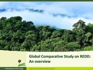 Global Comparative Study on REDD: An overview