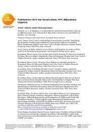 Publikationer 2012 från Socialt arbete, HVV, Mälardalens högskola