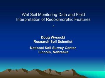 Wet Soil Monitoring Data and Field Interpretation of Redoximorphic ...