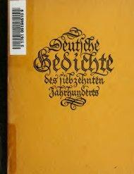 Deutsche Gedichte des siebzehnten Jahrhunderts