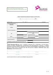 Wzór Umowy rezerwowej sprzedaży energii ... - TAURON Biznes