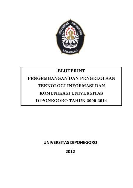 Blueprint It Undip 2009 Sistem Informasi Fakultas Teknik
