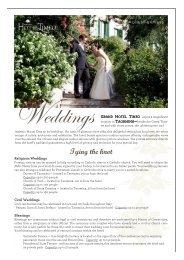 Grand Hotel Timeo - Wedding Factsheet 2012 - by Orient-Express