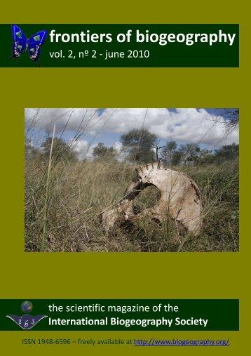 entire PDF - The International Biogeography Society