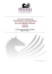 Formazione e comunicazione per una didattica efficace - Università ...