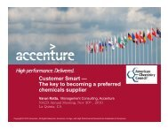 Customer Smart — The key to becoming a preferred ... - NACD