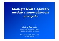 Strategie SCM a operační modely v automobilovém průmyslu
