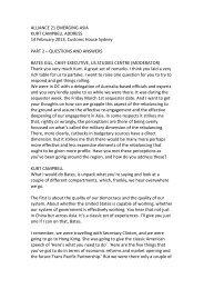 kurt campbell transcript part 2 - United States Studies Centre