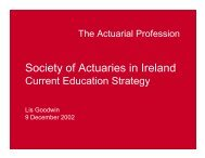 Presentation - Lis Goodwin - Society of Actuaries in Ireland