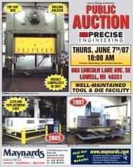 Precise Auction Brochure - Maynards Industries