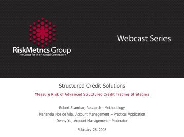 pdf of Structured Credit Solutions Webcast - RiskMetrics Group ...