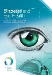 Diabetes and eye health booklet.indd - Australian Diabetes Council