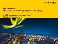 E-Postbrief Das Kommunikationsportal der Deutschen Post.