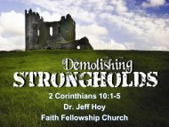 Stronghold - Faith Fellowship Church