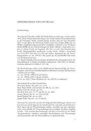 ERWERBUNGEN VON 1997 BIS 2011 - Staatsbibliothek zu Berlin