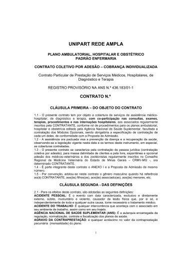 minuta dos contratos do sistema nacional unimed - CRMV-MG