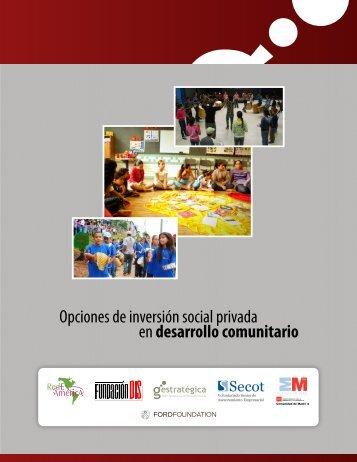 Opciones de inversión social privada en desarrollo comunitario