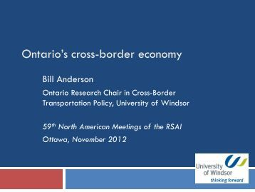 Prof. Bill Anderson's Presidential Address (PDF) - North American ...