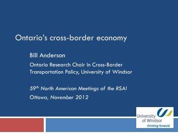Prof. Bill Anderson's Presidential Address (PDF) - North American ...