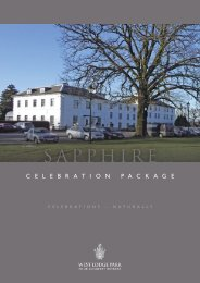 Sapphire Package (PDF download) – £52.50 per ... - Beales Hotels