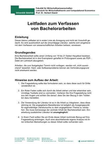 Vorgaben Bachelorarbeit Biostudiumuni Wuerzburgde