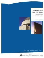 TRAVELLING EXHIBITIONS - Canadian Museum of Civilization