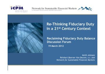 Presentation PDF - Network for Sustainable Financial Markets