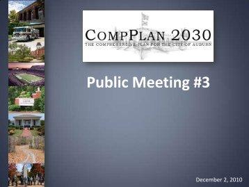 Public Meeting #3 Presentation - City of Auburn