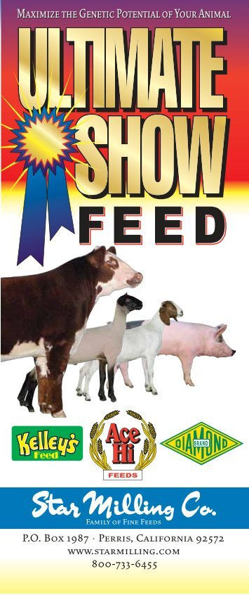 Ultimate Show Feed - Star Milling Company