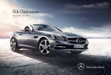 SLK-Class price list - Mercedes-Benz