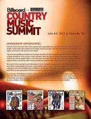 June 4-5, 2012 || Nashville, TN - Billboard Events