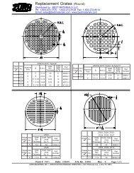 Zurn Replacement Drain Grates, from Best Materials LLC
