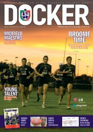 FD270a Docker 01, MARCH 09 - Fremantle Football Club
