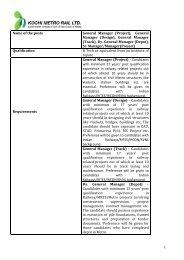 Download Detailed Project Report - Kochi Metro Rail Ltd