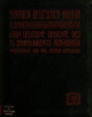 Deutsche Gedichte des 17. Jahrhunderts - Scholars Portal