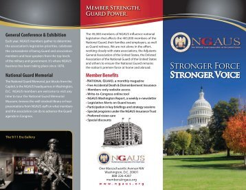 2013 Membership Brochure - National Guard Association of the U.S.