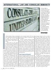 INTERNATIONAL LAW AND CONSULAR IMMUNITY ... - Lawyers